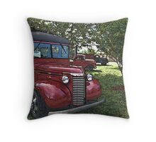 """1940 Chevrolet School Bus """"Surfer's Camper"""" Special Throw Pillow"""