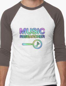 Music Researcher Men's Baseball ¾ T-Shirt