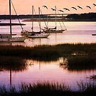 Boats at Anchor ~ Evening Tranquility by SummerJade