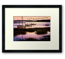 Boats at Anchor ~ Evening Tranquility Framed Print