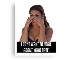 Your Date Canvas Print