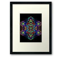 Infinity Cube Rainbow Framed Print