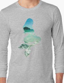 Mermaid ocean beach boho cool trendy pretty design Long Sleeve T-Shirt