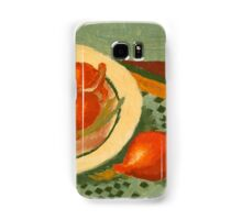 Plate with onions Samsung Galaxy Case/Skin