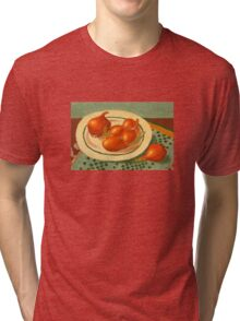 Plate with onions Tri-blend T-Shirt