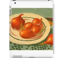 Plate with onions iPad Case/Skin