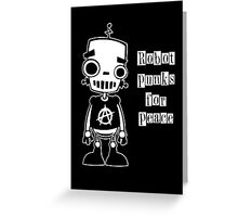 Robot Punks for Peace Greeting Card