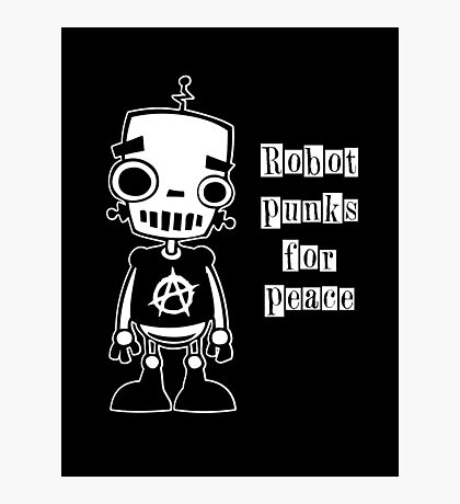 Robot Punks for Peace Photographic Print