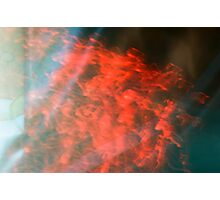 Burning Curtain Photographic Print