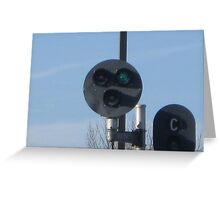 Green Traffic light (For Trains Only) Greeting Card