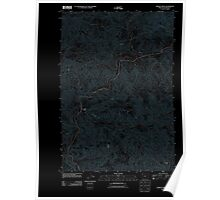 USGS Topo Map Oregon Jordan Creek 20110906 TM Inverted Poster