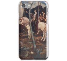 Maidens on white horses. iPhone Case/Skin