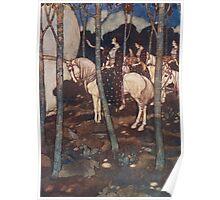 Maidens on white horses. Poster
