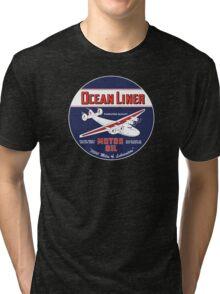 Ocean Liner Motor Oil Tri-blend T-Shirt