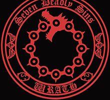 Meliodas Wrath Nanatsu No Taizai 7 Deadly Sins Logo Anime Cosplay Japan T Shirt by zombiehorde