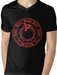 Meliodas Wrath Nanatsu No Taizai 7 Deadly Sins Logo Anime Cosplay Japan T Shirt Mens V-Neck T-Shirt