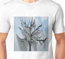 TREE COVERED IN ICE DURING A WINTER STORM-PILLOWS-TOTE BAG-TEE SHIRT- CARD- PICTURE ECT... Unisex T-Shirt