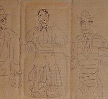 older work on cardboard hbn 012 by Stacey Lazarus