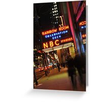 Saturday Night Live - NBC Studios Greeting Card