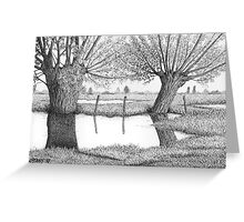 HOLLAND WATERLAND - PEN DRAWING Greeting Card