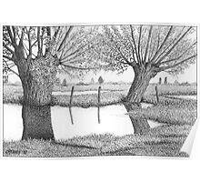 HOLLAND WATERLAND - PEN DRAWING Poster