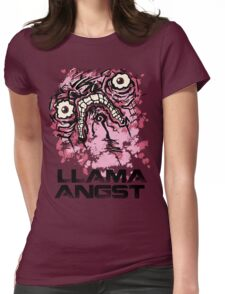 Llama Angst Womens Fitted T-Shirt