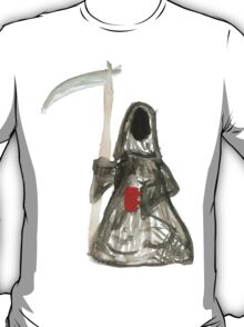 Grim Reaper with Coffee T-Shirt