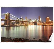 Brooklyn Bridge and Lower Manhattan Poster