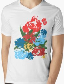 Rose Bouquet Mens V-Neck T-Shirt