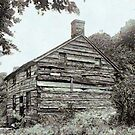 Old Log House in Virginia, USA ca.1918 by Dennis Melling