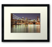 Brooklyn Bridge and Lower Manhattan Framed Print