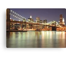 Brooklyn Bridge and Lower Manhattan Canvas Print