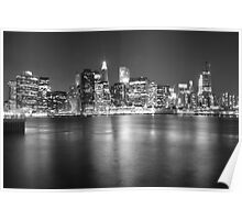 Lower Manhattan in Black and White Poster