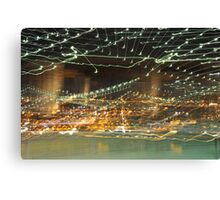 Brooklyn Bridge in Abstract Canvas Print