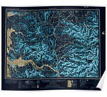 USGS Topo Map Washington Hoquiam 239707 1957 250000 Inverted Poster