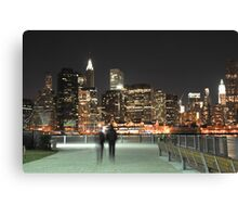 Lower Manhattan at Night Canvas Print