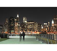 Lower Manhattan at Night Photographic Print