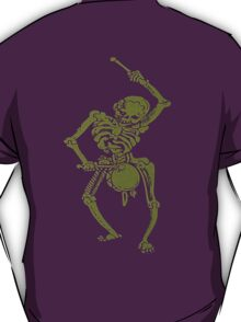 A Zombie Undead Skeleton Marching and Beating A Drum T-Shirt