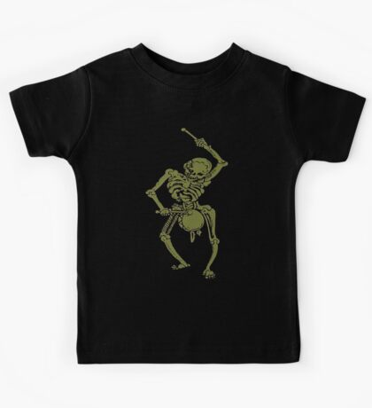 A Zombie Undead Skeleton Marching and Beating A Drum Kids Tee