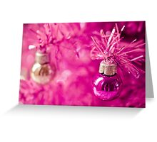 Pink baubles Greeting Card