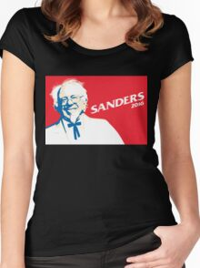 Bernie Sanders 2016 - The Colonel! Women's Fitted Scoop T-Shirt