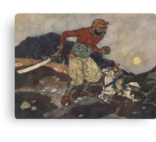 He wounded the giant in the knee. Canvas Print