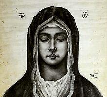 Theotokos - Mother of God by Wieslaw Borkowski