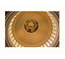 Interior Dome, US Capitol - Washington, DC Art Print