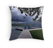 Evening Silence, Linnet Lake Throw Pillow