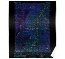 USGS Topo Map Oregon Squirrel Prairie 281606 1990 24000 Inverted Poster