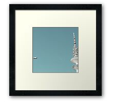 street lamp tv tower Framed Print