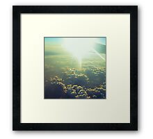 clouds taste metallic Framed Print