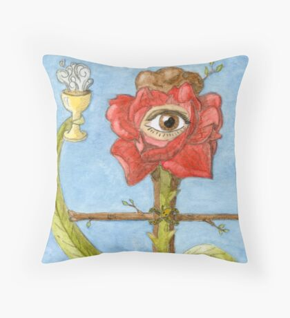 The Hanged Magus Throw Pillow