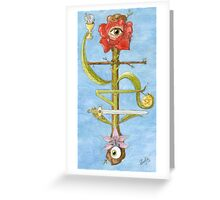 The Hanged Magus Greeting Card
